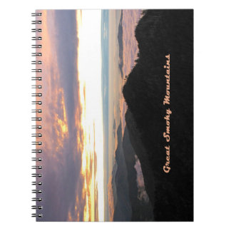 Great Smoky Mtns Sunset Note Books