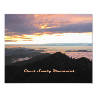 Great Smoky Mtns Sunset Photographic Print