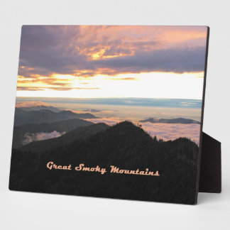 Great Smoky Mtns Sunset Plaque