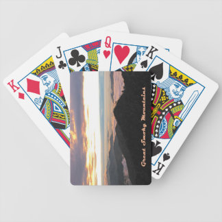 Great Smoky Mtns Sunset Bicycle Card Deck
