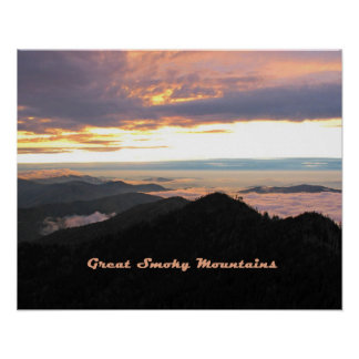 Great Smoky Mtns Sunset Poster