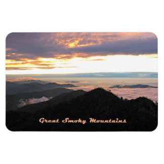 Great Smoky Mtns Sunset Rectangular Photo Magnet