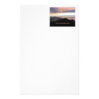 Great Smoky Mtns Sunset Stationery Design