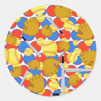 Great Softball Classic Round Sticker