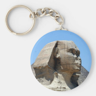 great sphinx egypt basic round button key ring
