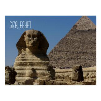 Great Sphinx Statue Giza Cairo Egypt Travel Postcard