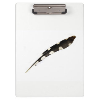 Great Spotted Woodpecker Feather Clipboard