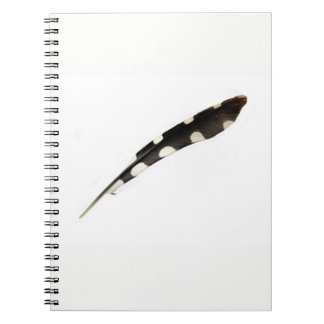 Great Spotted Woodpecker Feather Notepad Notebook
