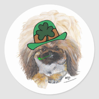 Great St Paddys Day Round Sticker