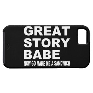Great Story Babe Funny iPhone 5 Case