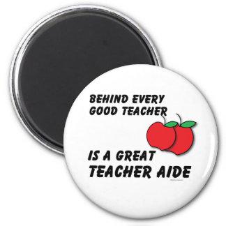 Great Teacher Aide 6 Cm Round Magnet