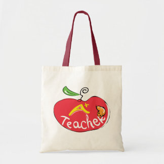 great teacher apple with apple bag