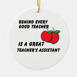 Great Teacher Assistant Ceramic Ornament