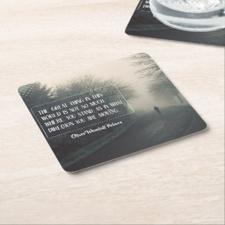 Great Thing In This World Square Paper Coaster
