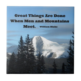 Great things happen when man and mountain meet