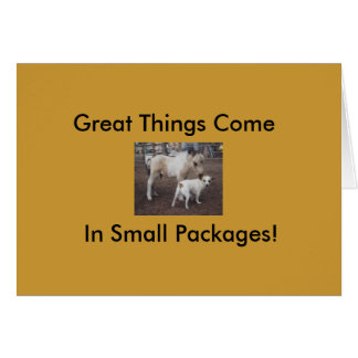 Great Things Come in small Packages... Note Card