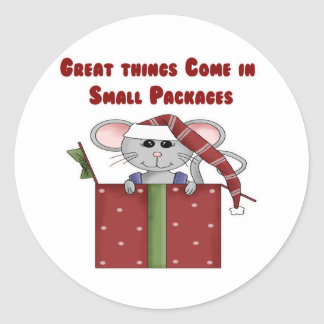 Great things Come in Small Packages Round Sticker