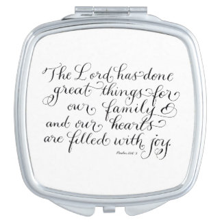 Great things for our family inspirational verse compact mirrors