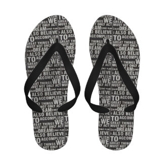 Great Things Men and Women s Black and White Flip-Flops
