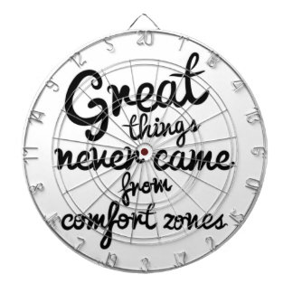Great Things Never Came From Comfort Zones Dartboard