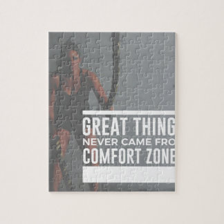 Great Things Never Came From Comfort Zones Jigsaw Puzzle