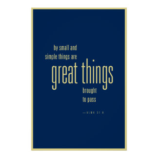 Great things poster (LDS)