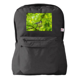 Great tit, parus major backpack