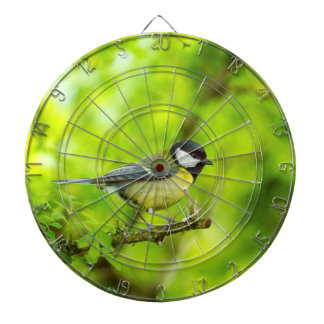 Great tit, parus major dartboard