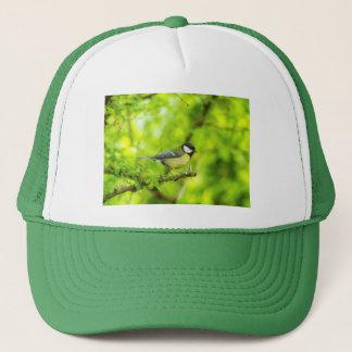 Great tit, parus major trucker hat