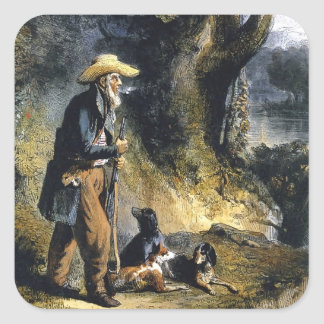 Great Traveller Charles Lesueur by Karl Bodmer Square Sticker