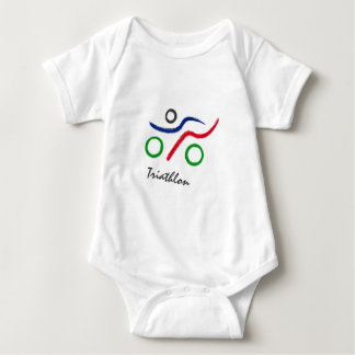Great Triathlon logo Baby Bodysuit