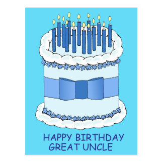 Great Uncle Happy  Birthday. Postcard