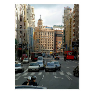 Great Via of Madrid, Spain Postcard