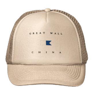 Great Wall China Alpha Dive Flag Mesh Hats