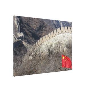 great wall flag canvas print