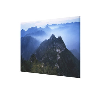 Great Wall in early morning mist, China Canvas Print