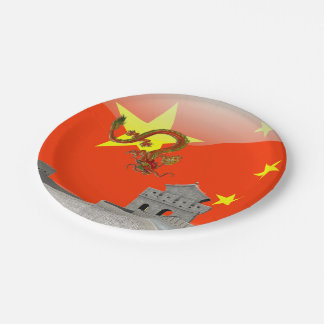 Great Wall of China Paper Plate