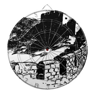Great Wall of China Sketch Dartboard