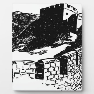 Great Wall of China Sketch Plaque