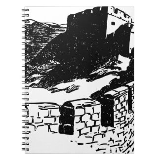 Great Wall of China Sketch Spiral Notebook