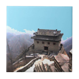 Great Wall of China Small Square Tile