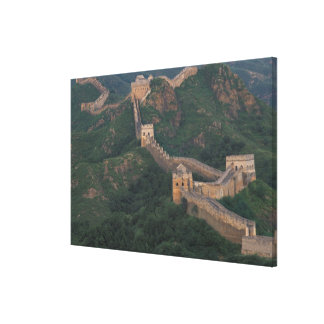 Great Wall winding through mountains. Gallery Wrapped Canvas