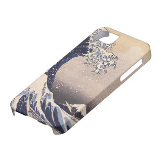 Great Wave by Hokusai, Vintage Japanese Art iPhone 5 Cases