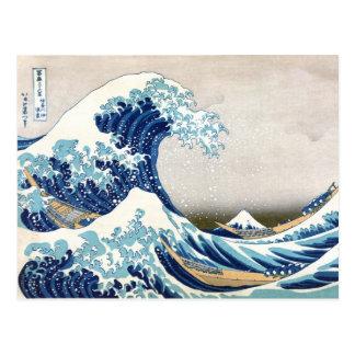Great Wave Hokusai 葛飾北斎の神奈川沖浪裏 Postcard