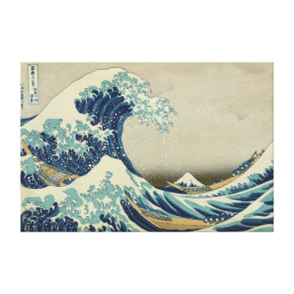Great Wave Hokusai Stretched Canvas Print