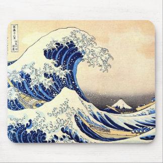 great wave japan hokusai mousepad