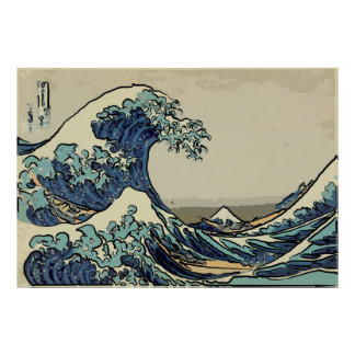 Great Wave off Kanagawa art Poster