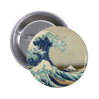 Great Wave off Kanagawa Buttons