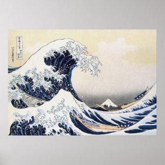 Great Wave off Kanagawa by Hokusai Posters
