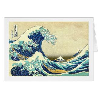 """Great Wave Off Kanagawa"" Greeting Card"